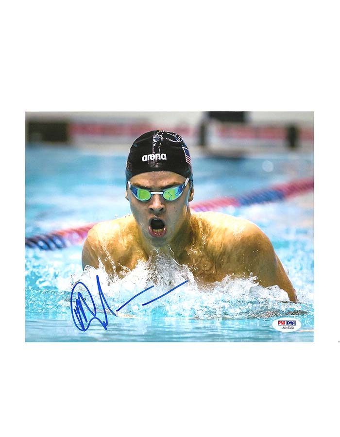 "Michael Andrew signed 8'x10"" Photo Swimming"