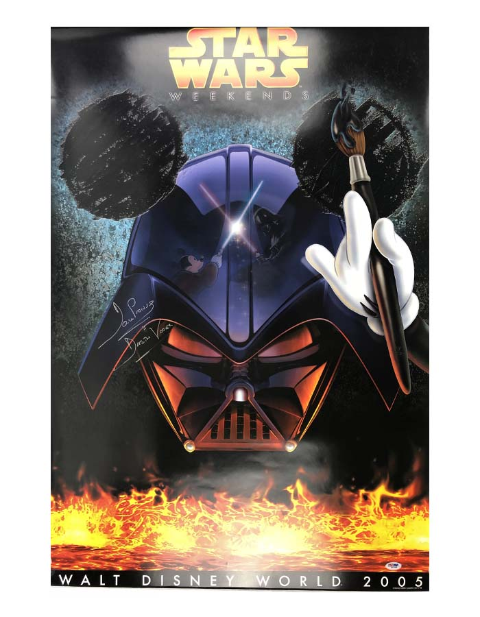 """Dave Prowse signed 24""""x36"""" Full Size Poster Star Wars"""