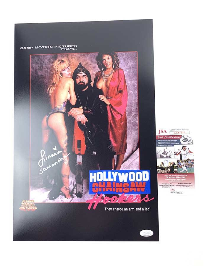 Linnea Quigley Signed 11x17 Poster Hollywood Chainsaw Hookers