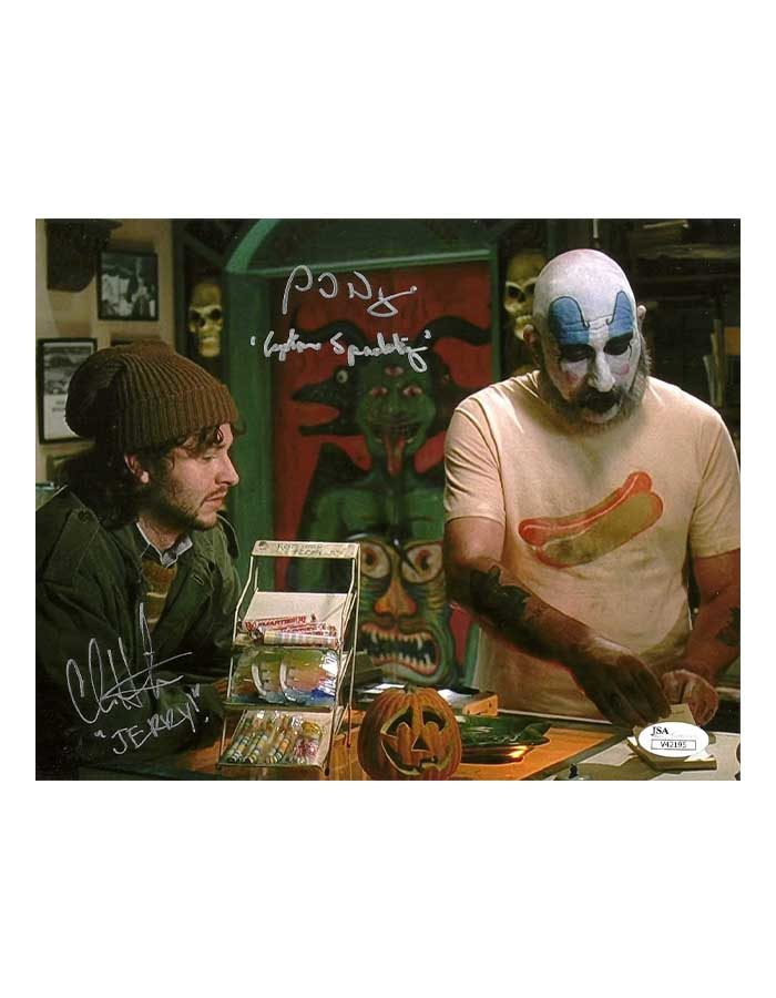 Sid Haig & Chris Hardwick Signed 8x10 Photo House of 1000 Corpses