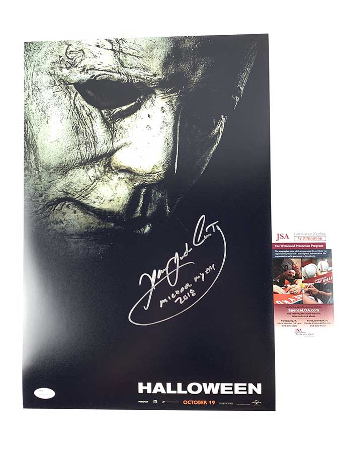 James Jude Courtney signed 12x18Poster Halloween